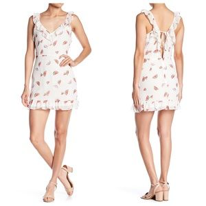 Emory Park Ruffle watermelon tie-back mini dress